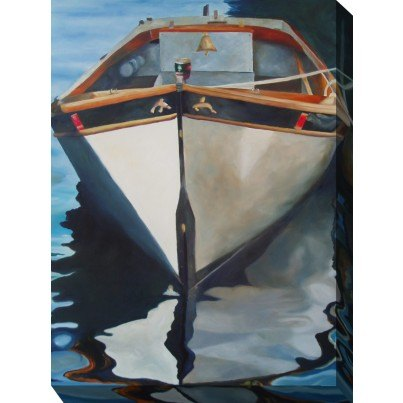 West of the Wind Outdoor Canvas Wall Art - Captain's Gig  by West of the Wind