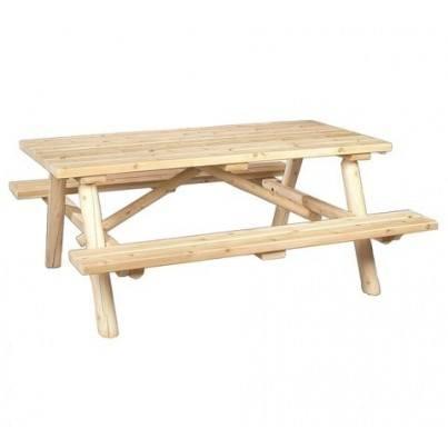 Square Style Cedar Picnic Table  by Rustic Natural Cedar