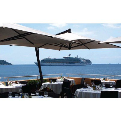 11.5' Square Canopy Cantilever Umbrella  by FIM Umbrellas