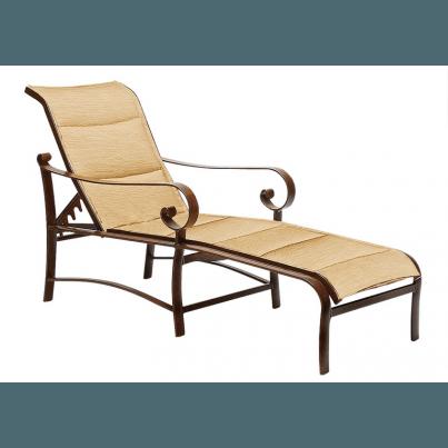 Woodard Belden Aluminum  Padded Sling Adjustable Chaise Lounge  by Woodard