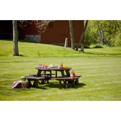 """POLYWOOD® Park 53"""" Octagon Picnic Table  by Polywood"""