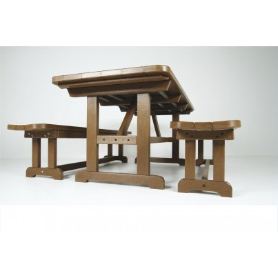 """POLYWOOD® Park 36"""" X 72"""" Harvester Picnic Table  by Polywood"""