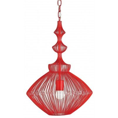 Currey & Company Parker Iron Pendant Light Chandelier  by Currey & Company