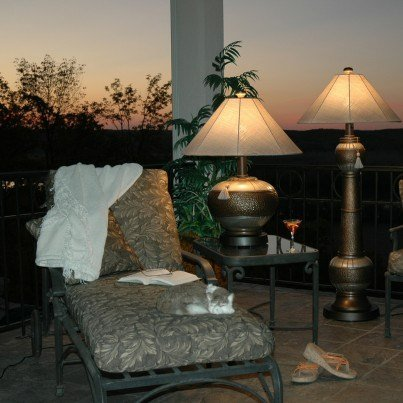 Outdoor Phoenix Table Lamp  by Frontera Furniture Company