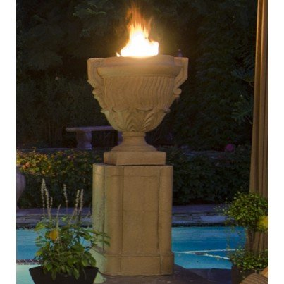 Piage Fire Urn and Pedestal  by CGProducts