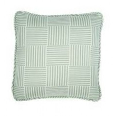 "16"" Square Toss Pillow Shown in Basketweave Spa"