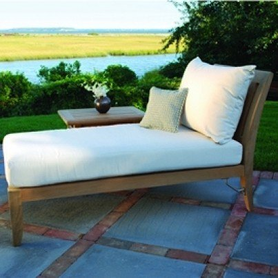 Kingsley Bate Ipanema Teak Sectional Chaise Lounge  by Kingsley Bate