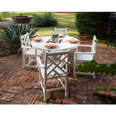 POLYWOOD® Chippendale 5 Piece Dining Ensemble  by Polywood