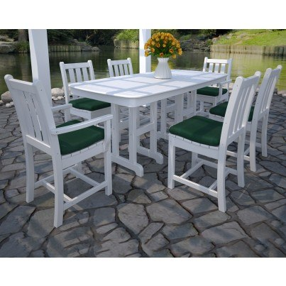 POLYWOOD® Traditional Garden 7 Piece Dining Ensemble  by Polywood