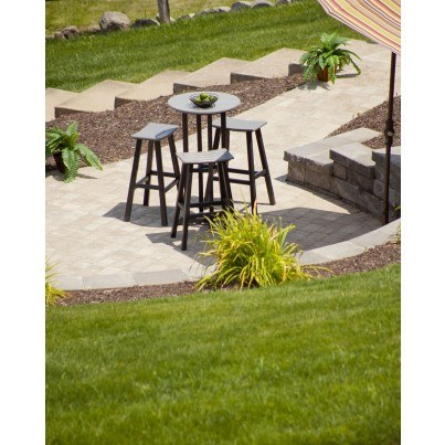 """POLYWOOD® Contempo 24"""" Round Bar Table  by Polywood"""