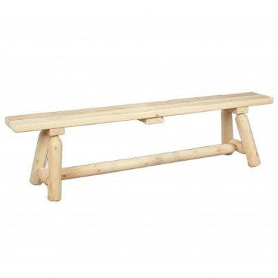 Rustic Natural Cedar 6' Straight Bench  by Rustic Natural Cedar