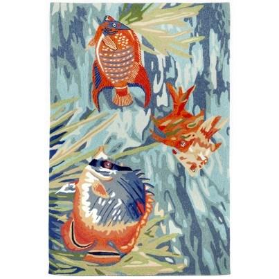 Trans-Ocean Ravella Tropical Fish Ocean Rug 5'x7'6