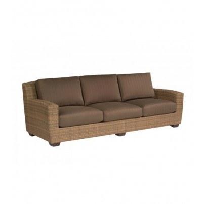 Woodard Saddleback Wicker Sofa  by Woodard