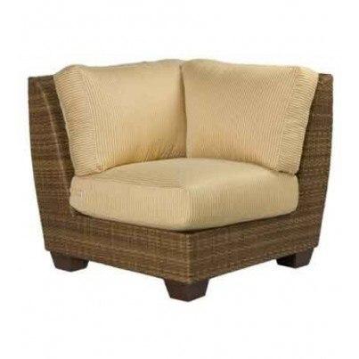 Woodard Saddleback Wicker Sectional Corner Chair  by Woodard