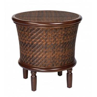 Woodard North Shore Round Storage End Table  by Woodard