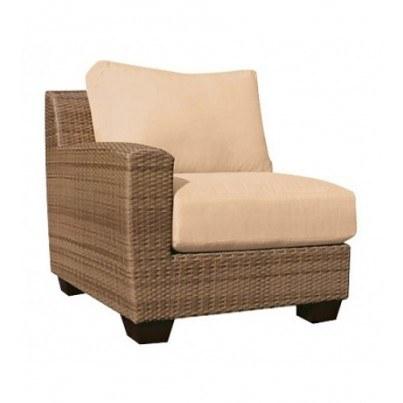 Woodard Saddleback Wicker Left Arm Facing Chair  by Woodard