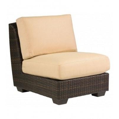 Woodard Saddleback Wicker  Sectional Armless Chair  by Woodard