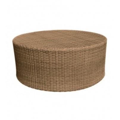 Woodard Saddleback Wicker Round Coffee Table  by Woodard