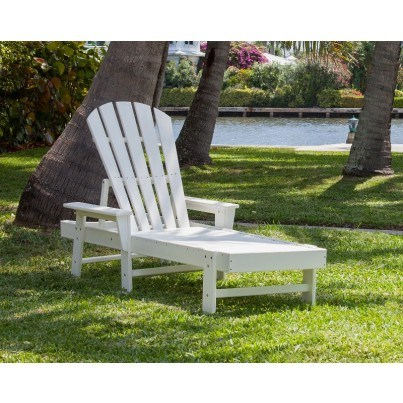 POLYWOOD® South Beach Chaise Lounge - White  by Polywood