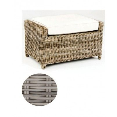 Kingsley Bate Sag Harbor Wicker Deep Seating Ottoman - Oyster - 1 OPEN BOX  by Kingsley Bate