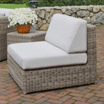Kingsley Bate Sag Harbor Wicker Sectional - Armless Chair - Driftwood - 1 OPEN BOX  by Kingsley Bate