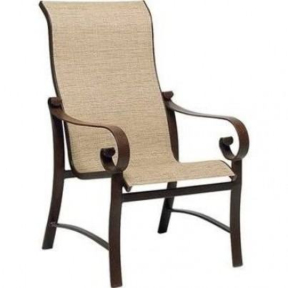 Woodard Belden Aluminum Sling High-Back Dining Chair  by Woodard