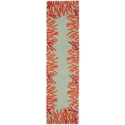 Trans-Ocean Spello Coral Bdr Orange Rug 24