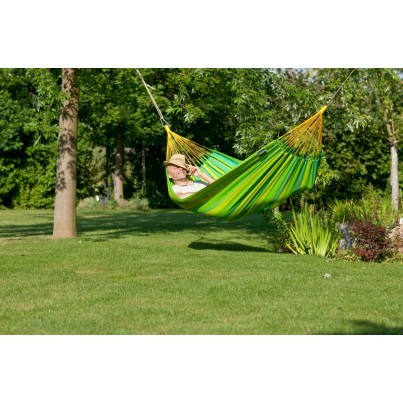 La Siesta Sonrisa Weather-resistant Single Classic Hammock - Lime  by La Siesta
