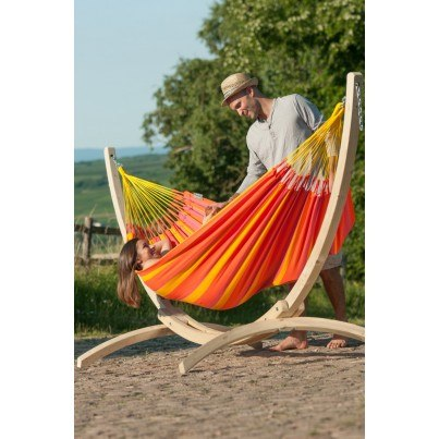 La Siesta Sonrisa Weather-resistant Single Classic Hammock - Mandarine  by La Siesta