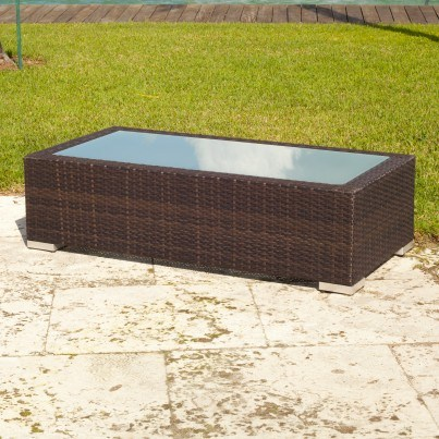 Source Outdoor Lucaya Wicker Coffee Table   by Source Outdoor