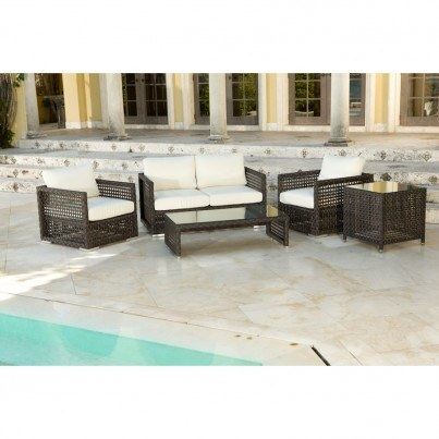 Source Outdoor Matterhorn Wicker Coffee Table - Rectangular  by Source Outdoor