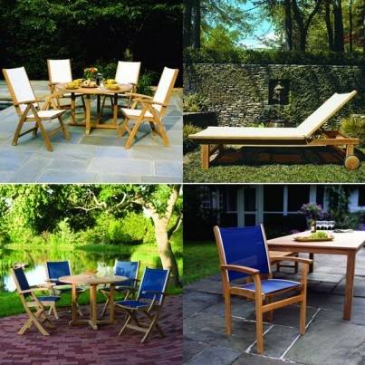 Kingsley Bate St. Tropez Teak Dining and Seating Collection - Build Your Own Ensemble  by Kingsley Bate