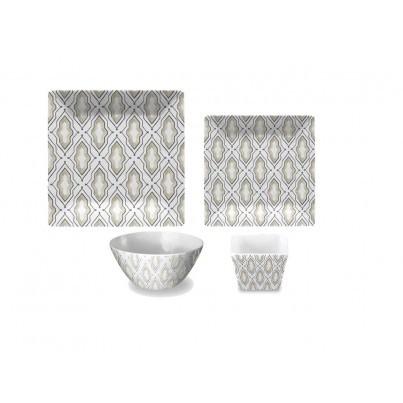 Melamine Kenzie Fretwork 16 Piece Dining Set  by Frontera Furniture Company