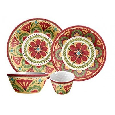 Melamine Carmen Medallion 12 piece Dinner Set  by Frontera Furniture Company