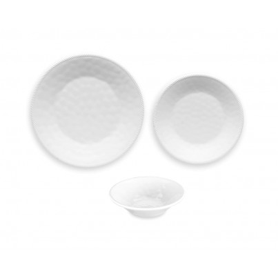 Melamine Classic Rope 12 piece Dinner Set  by Frontera Furniture Company