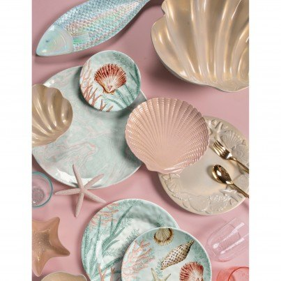 Melamine Coral Reef 16 piece Dinner Set  by Frontera Furniture Company