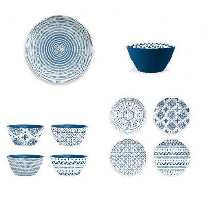 Melamine Indochine Ikat 16 piece Dinner Set  by Frontera Furniture Company