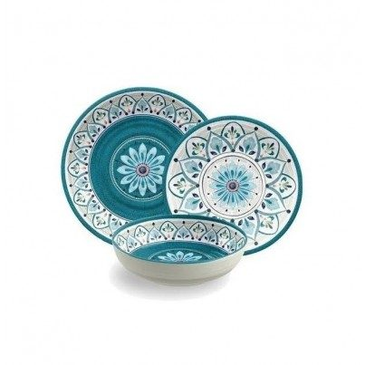 Melamine Moroccan Medallion 12 piece Dinner Set  by Frontera Furniture Company