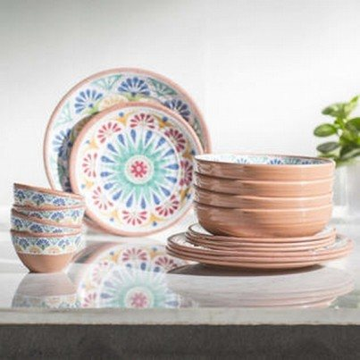 Melamine Rio Medallion 16 piece Dinner Set  by Frontera Furniture Company