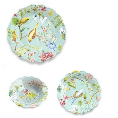 Melamine Spring Chinoiserie 12 piece Dinner Set  by Frontera Furniture Company
