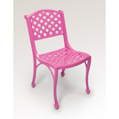 "Three Coins Cast Crossweave Cast Aluminum 18"" Armless Chair  by Three Coins Cast"