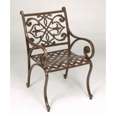Three Coins Cast Catalina Cast Aluminum Patio Chair  by Three Coins Cast