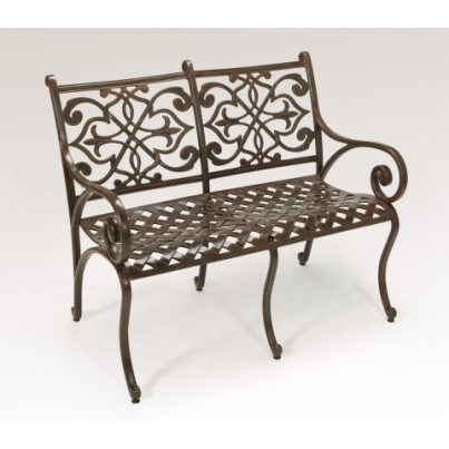 Three Coins Cast Catalina Cast Aluminum Settee  by Three Coins Cast