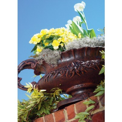 Three Coins Cast Rose Cast Aluminum Urn  by Three Coins Cast