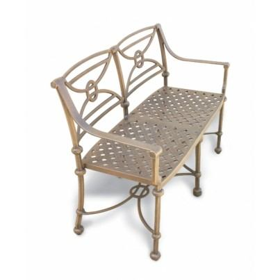 Three Coins Cast Leon Cast Aluminum Settee  by Three Coins Cast