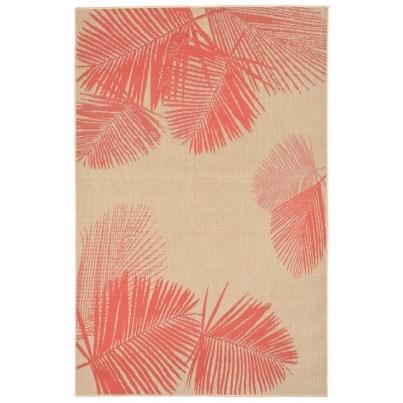Trans-Ocean Terrace Palm Coral Rug 4'10