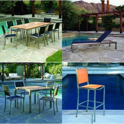 Kingsley Bate Tiburon Stainless Steel Dining and Seating Collection - Build Your Own Ensemble  by Kingsley Bate