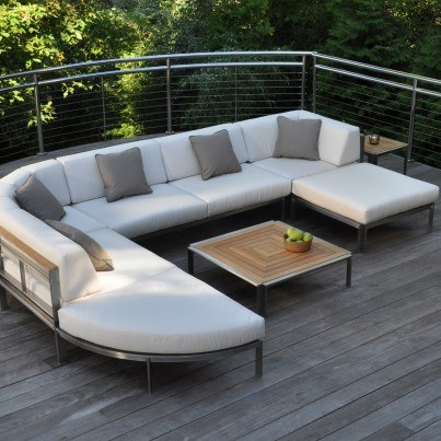 Kingsley Bate Tivoli Stainless Steel 9 Piece Sectional Ensemble  by Kingsley Bate
