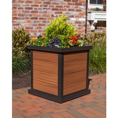 "Trex® Outdoor Furniture™ Parsons Cube 24"" Planter 4 Board  by Trex Outdoor Furniture"