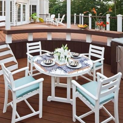Trex® Outdoor Furniture™ Monterey Bay 5 Piece Dining Ensemble  by Trex Outdoor Furniture